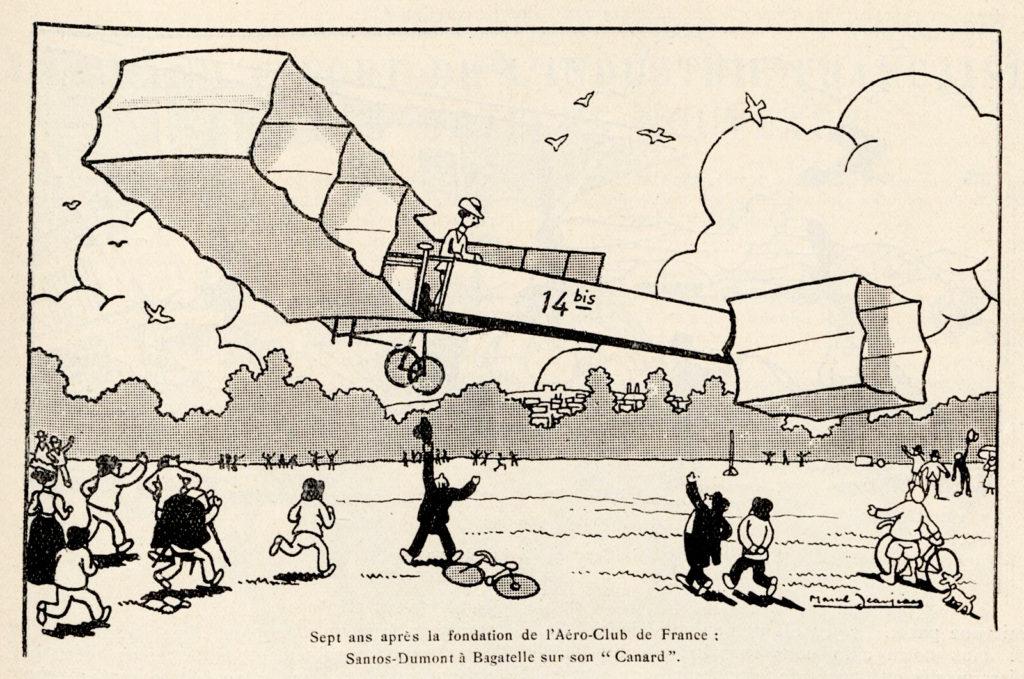 Santos-Dumont, fundador del primer Aeroclub y su primer aviador