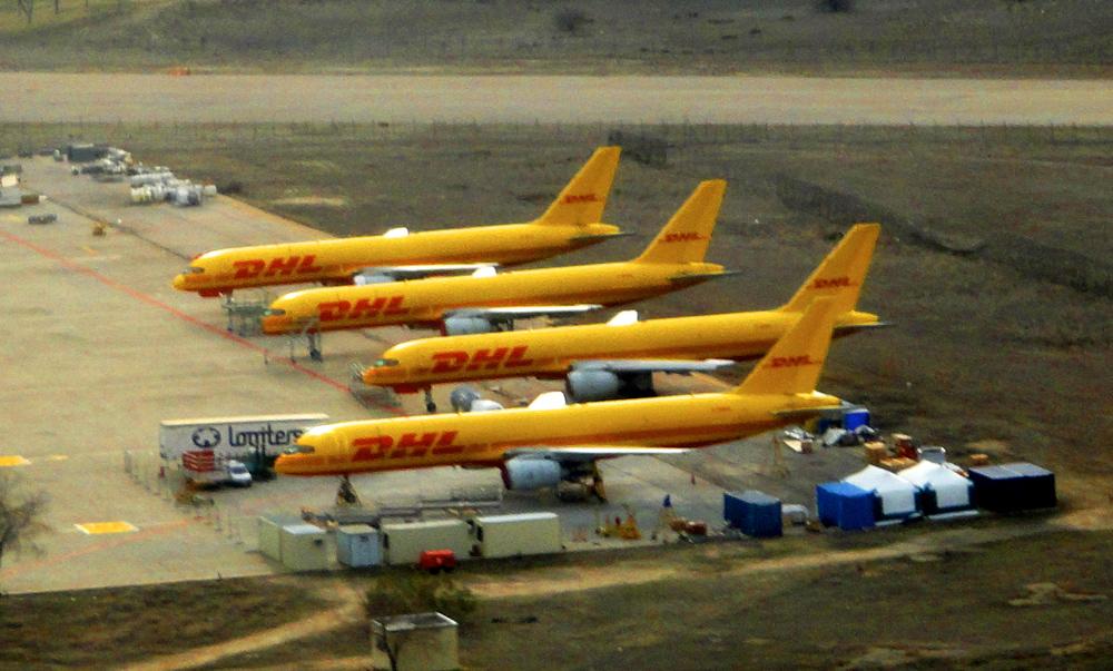 Los aviones amarillos de DHL