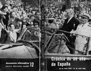Oleadas de júbilo popular rodean el coche oficial del dictador