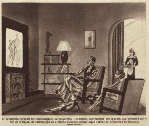 Televisores murales extrafinos de 50 pulgadas en 1937