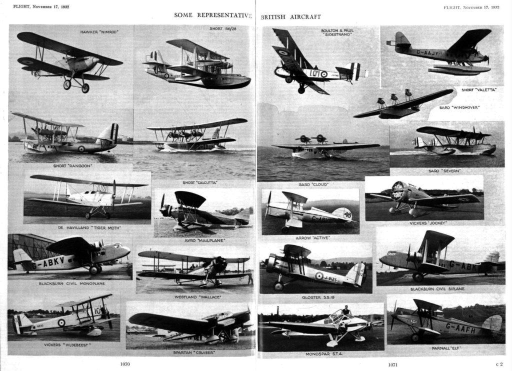 Diversa pero algo obsoleta: la cosecha de aviones británicos de 1932
