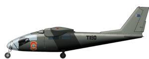 Un moderno avión policía para la fuerza aérea deBophuthatswana