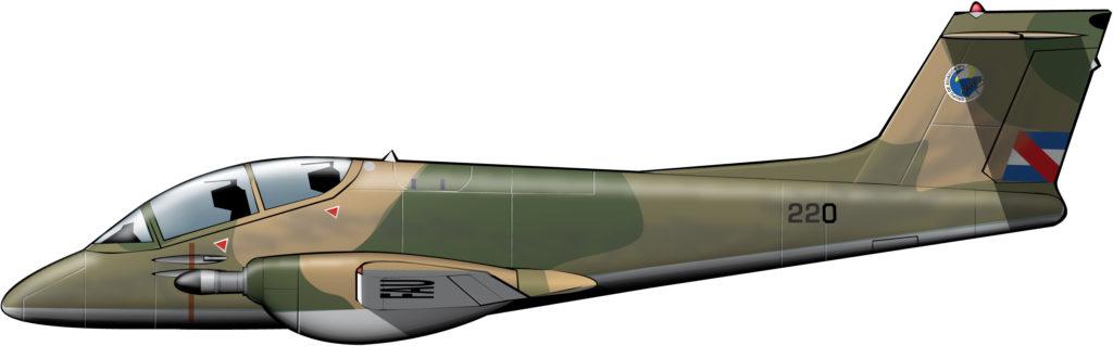 Un avión antisubversivo para Uruguay