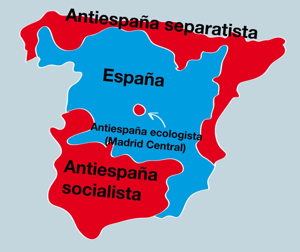Las elecciones dividen España en cuatro zonas