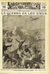 El primer ataque aéreo, visto desde abajo